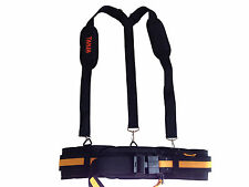 BUILDERS TOOL BELT PADDED, WIRE WHEEL, BRACES, 2 NAIL BAG POUCHES, SUPER COMFY