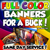 3' x 6' Full Color Custom Banner High Quality 13oz Vinyl - Same Day Shipping!