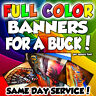 3' x 4' Full Color Custom Banner - Same Day Shipping!