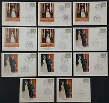West Germany 1965 Queen Elizabeth II State Visit 11 Cards Cancelled to Order