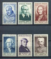 "21633) FRANCE 1953 MNH** Nuovi** 6v. ""Famous People"""