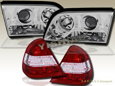 94-00 Mercedes Benz C-Class W202 4Door Projector Headlights Clear+Tail Lights