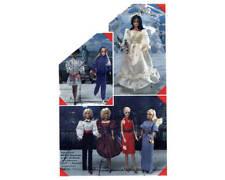 "Vintage 1980s Barbie 11 1/2"" Doll Clothes Pattern Wardrobe Simplicity 6097 Uncut"
