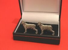 More details for weimaraner dog pewter cufflinks men's gift father's day wedding christmas gift