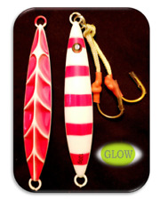 """""""HOT~JIG"""" Saltwater Slow Pitch Fishing Lures Sinking Lead Jigs """"ALL~GLOW"""""""