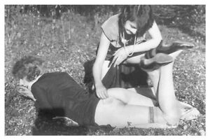 8 x 12 Silver Halide Photo Risque Pinup Lesbian Interest Powder Puff Girls