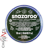 Dark Green Snazaroo 18ml Face & Body Paint Stage MakeUp Fancy Dress Costume New