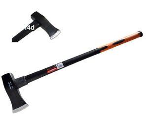 Heavy Duty 6lb AXE Hatchet Axe Hammer Fibreglass Handle Log Splitter Wood 1298