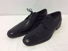 $395 To Boot New York Black Leather Square Toe Lace-Up Oxfords Size 8