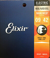Elixir Nanoweb 12002 Electric Guitar Strings super light gauge 9-42