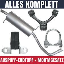 Endschalldämpfer Auspuff Endtopf für Seat Ibiza 3 III 6L 01-08 1.4