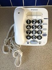 BT Big Button 100 Phone White With Riser Stand GWO UK seller