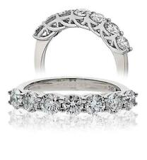 Diamond Wedding 7 Stone Ring Brilliant Cut 1.50ct Certified D IF 18ct White Gold