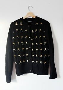 Junya Watanabe for Comme des Garcons coin knitted cardigan with distressing