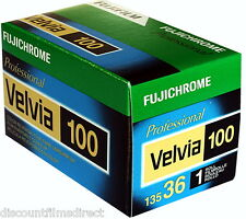2 x Fuji Fujichrome Velvia 100 35mm 36exp Colour Slide Film  by 1st CLASS POST