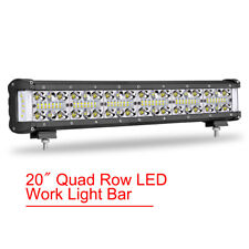 "18""inch LED Light Bar Side Shooter Quad Row Combo Spot Flood Offroad 4WD 12V 24V"