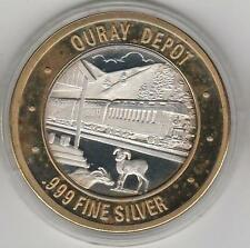 CO Blackhawk Locomotive Ouray Train Depot CC Mint .999 Fine Silver $10 Token