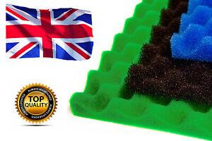 Garden Fish Pond Spare Replacement Filter Foam Sponge Set x3 Fine Medium Coarse