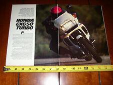 1983 HONDA CX650 TURBO - ORIGINAL ARTICLE