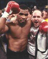GLOSSY PHOTO PICTURE 8x10 Mike Tyson And Kevin Rooney Celebrating