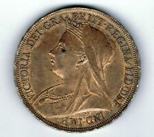 More details for 1897 lx victoria sterling silver crown - five shilling coin - 28.3g