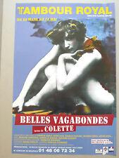 COLETTE affiche originale Belles vagabondes Faune Carco Vian Poulenc Ravel Vadim