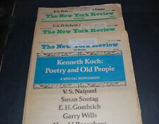 THE NEW YORK REVIEW OF BOOKS (3) NEWSPAPERS January, February, June 1977