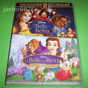 LA BELLA Y LA BESTIA COLECCION 2 PELICULAS EN DVD NUEVO Y PRECINTADO