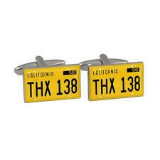 American Car License Number Plate THX138 Cufflinks cuff links NEW BNIB