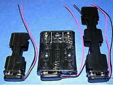 Battery Holders 2,3,4  x  AA  + Snap On Battery connectors