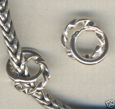 Sterling Silver Twin Spacer Beads for Charm Bracelet