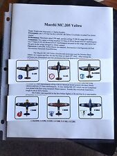 6 Italian Variant Planes for B-17 Queen of the Skies WW2 Avalon Hill