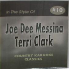 COUNTRY KARAOKE CLASSICS CD+G JOE DEE MESSINA+TERRY CLARK #10 In  vinyl w/Print