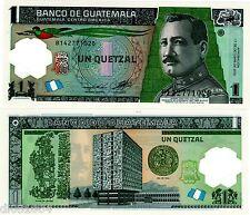 GUATEMALA BILLET 1 QUETZAL 2012 (2014) POLYMER  NOUVEAU UNC NEUF