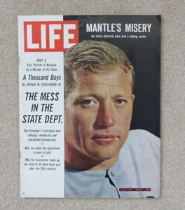 1965 MICKEY MANTLE FULL LIFE MAGAZINE NM/MT CONDITION NO LABEL NEWSSTAND RARE