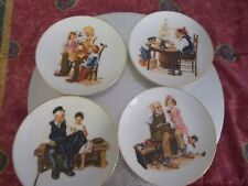 4 small collector plates/Norman Rockwell/ made Japan