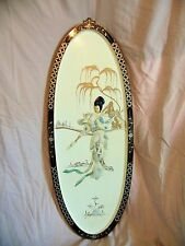 Vintage MOTHER OF PEARL Asian Oriental WALL ART panels picture hanging