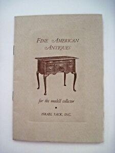 "Vintage 1950  ""Fine American Antiques"" Catalog by  ""Israel Sack, Inc.""  *"