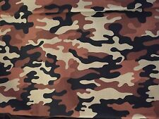DESERT CAMO Tones CAMO 100% cotton fabric - by the yard - smoke free - pet free
