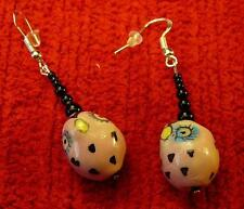 Unique Cute Pink Bird Sterling Silver Earrings  - Native American Indian