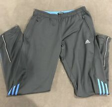 EUC ADIDAS Men's Clima365 Warmup Pants Size Small 3-Stripe Ankle Zip ClimaCool