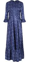 Lindy Bop 'Lydia' Blue Paisley Print Vintage Style 1970s Boho Maxi Dress BNWT