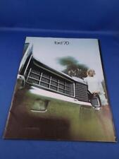 FORD 1970 CAR LTD GALAXIE 500 DEALERSHIP SALES BROCHURE ADVERTISING FEATURES