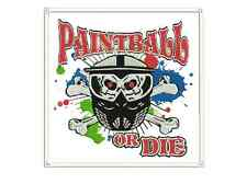 "Paintball Patch Sew on patch 9"" X 9"" for back jacket"