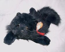 "18"" TY VINTAGE 1987 CLASSIC LICORICE BLACK CAT STUFFED ANIMAL PLUSH TOY W/ TAG"