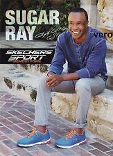 SKECHERS 2015 SUGAR RAY print ad page sneakers boxer Raymond Charles Leonard