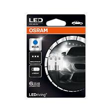 2x Genuine Osram LED W5W (501) 1w 12v Ice Blue 6800K Bulbs [2850BL-02B]