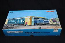 W283 VOLLMER Train Ho 5760 B Remise double locomotive electrique Eilok Schuppen
