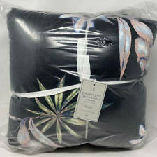 Pottery Barn Teen Roxy Island Life TWIN / TWIN XL Comforter / Quilt ~ Black
