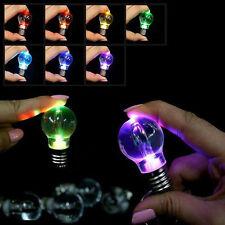 Mini Multi-Color Automatical Change LED Key Chain Ring Light Bulb Lamp Xmas Gift